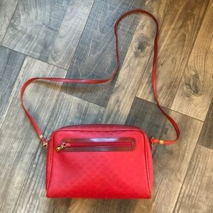 Vintage authentic red Gucci bag